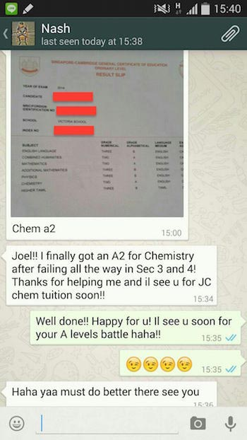 A2 for Chemistry after Chemistry Tuition