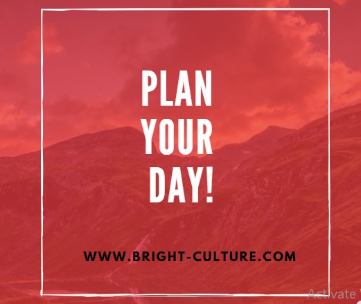 Plan Out Your Day